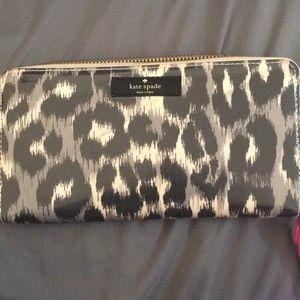 Kate Spade Large Leopard Wallet